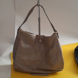 Tory burch distressed leather handbag